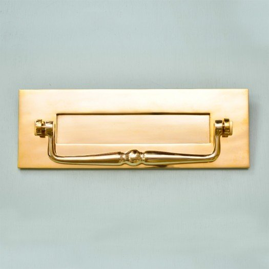 Traditional Letterplate With Clapper - Brass