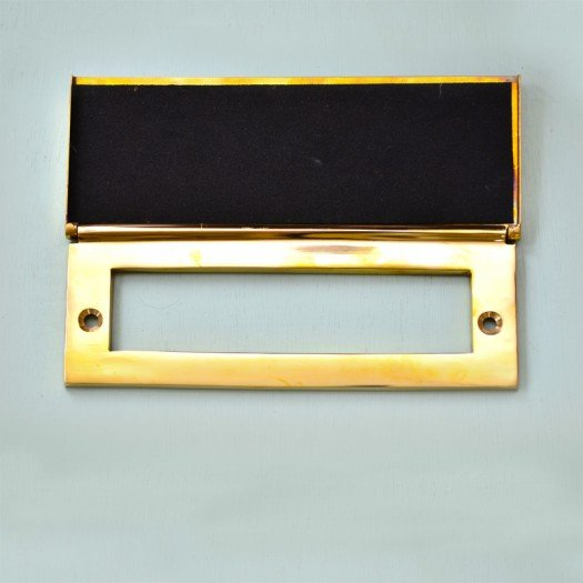 Letter Plate Tidy - Brass