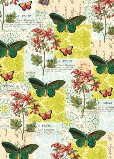 Flora & Fauna Butterflies Poster Wrap - save 50%