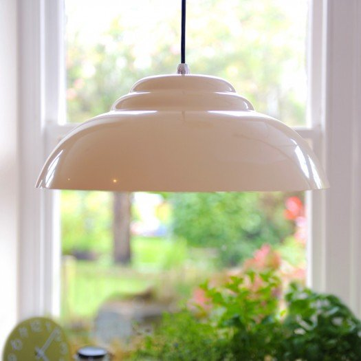 Retro Pendant Light - White