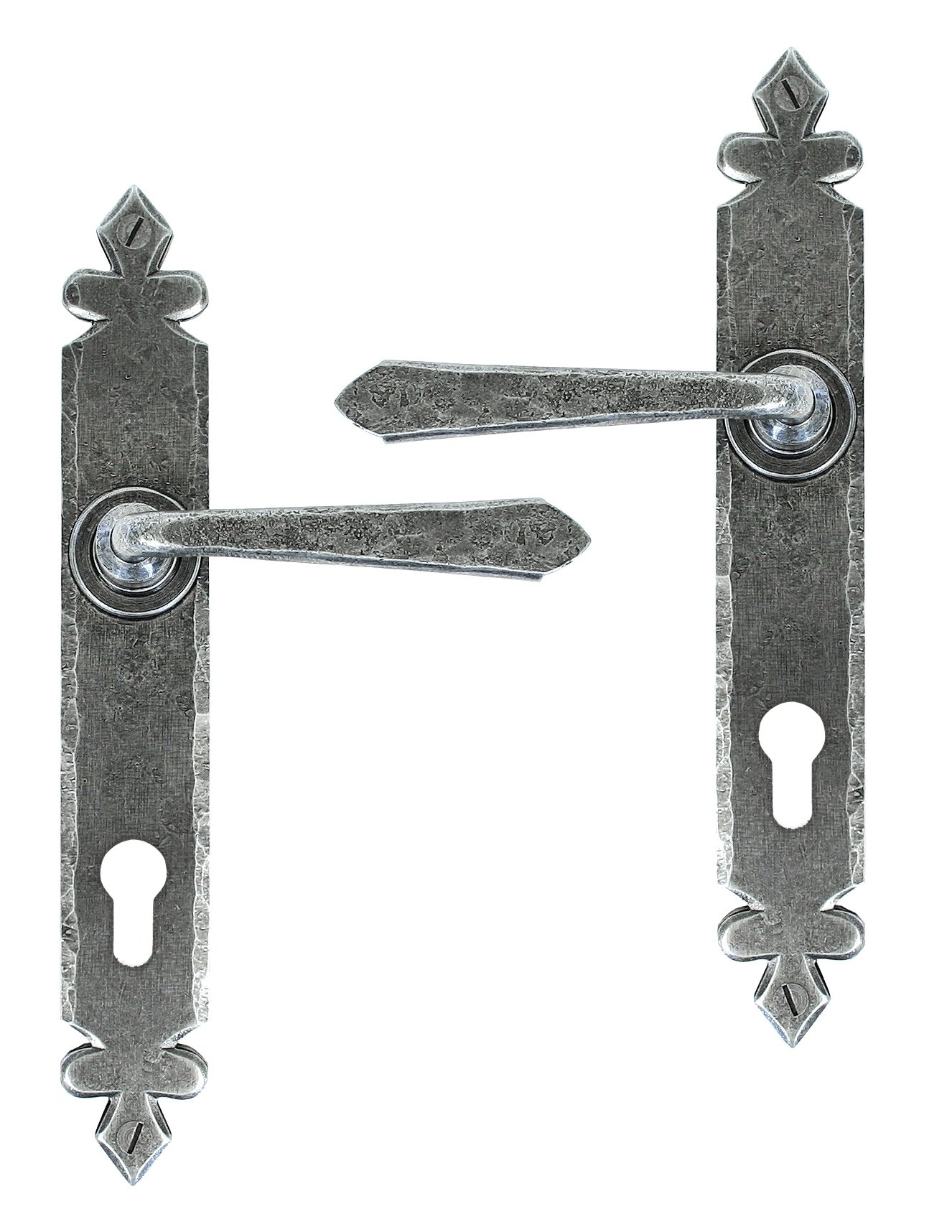 Pewter Cromwell Lever Espag. Lock Set