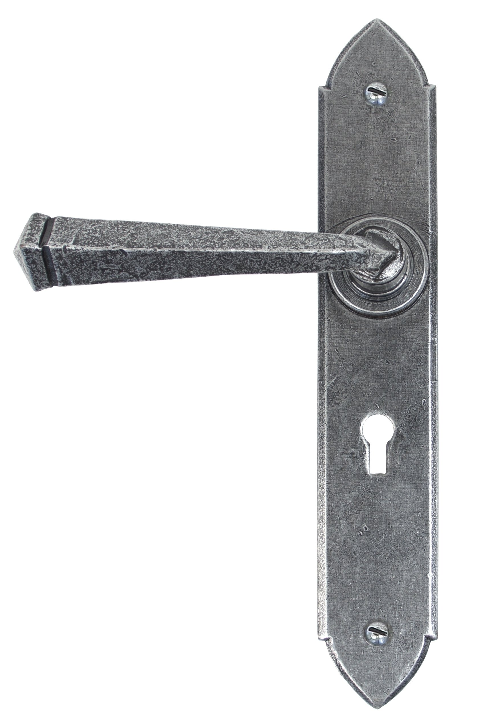Pewter Gothic Lever Lock Set