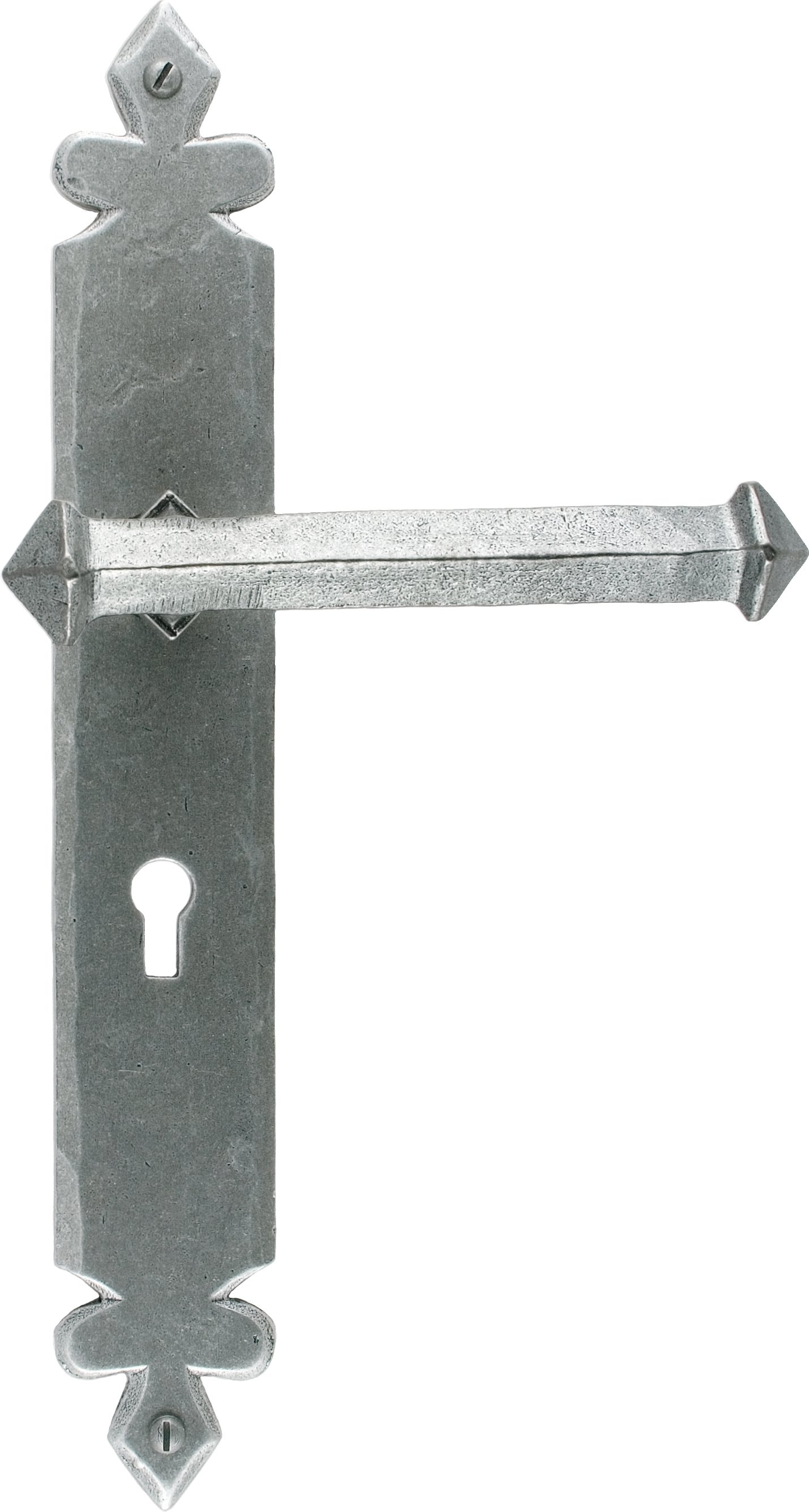 Pewter Tudor Lever Lock Set