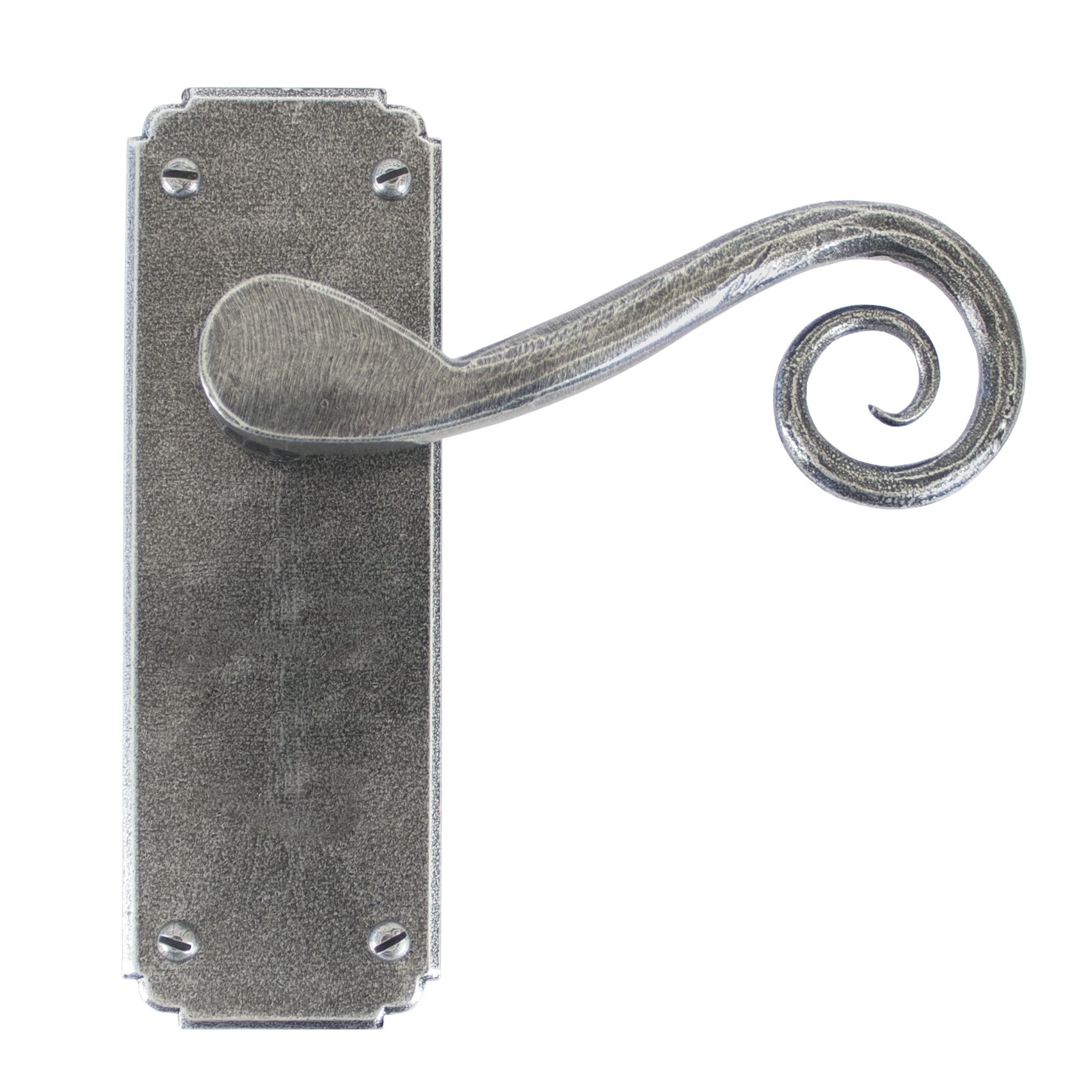 Pewter Monkeytail Lever Latch Set