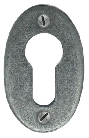 Pewter Oval Euro Escutcheon