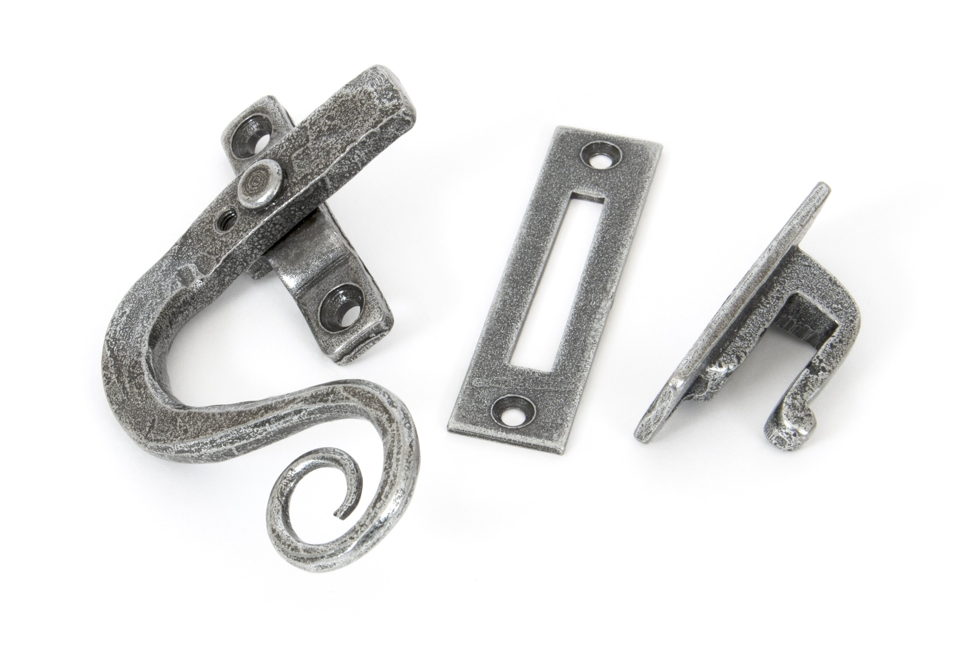 Pewter Monkeytail Fastener LH - Locking