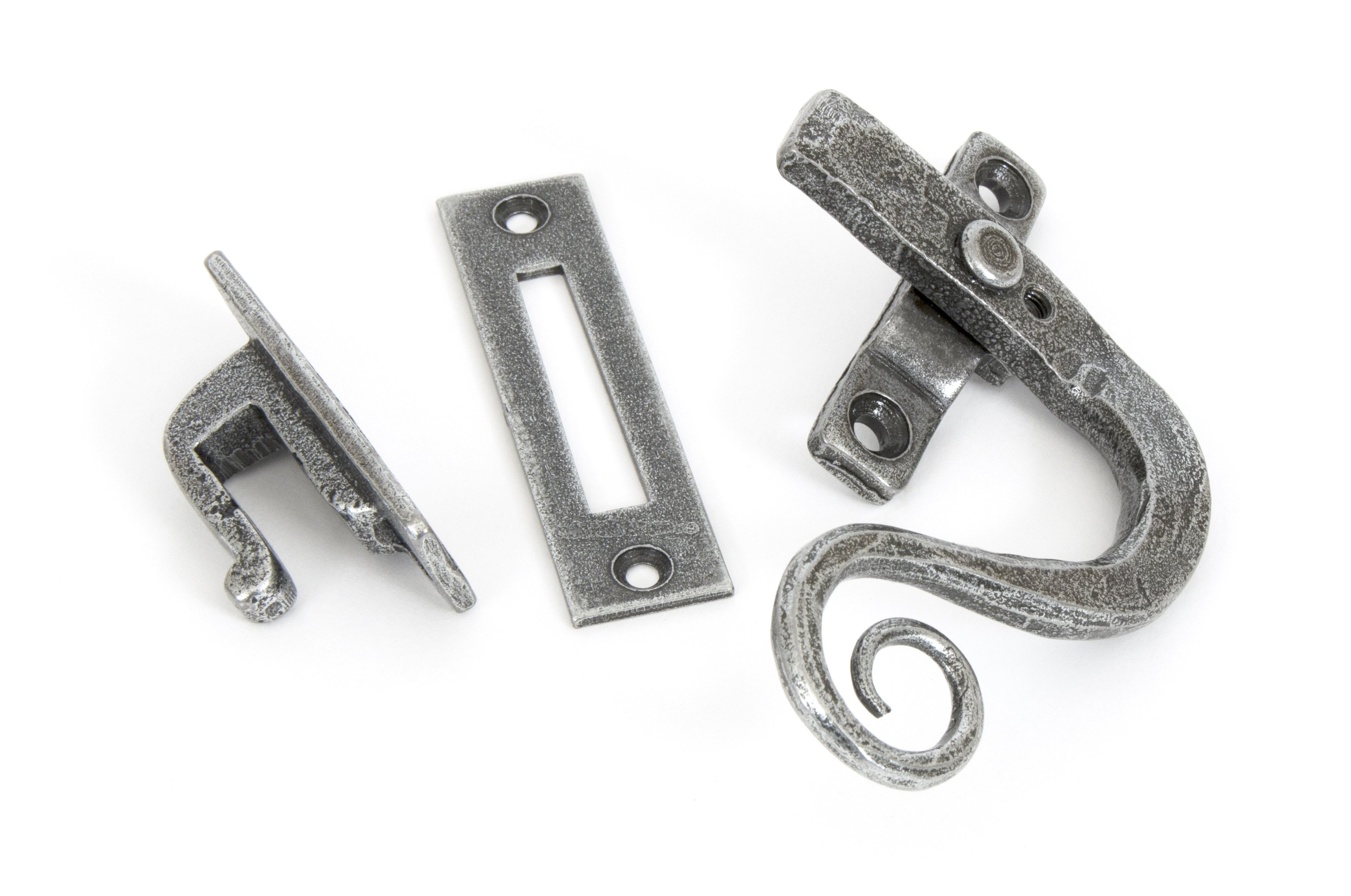 Pewter Monkeytail Fastener RH - Locking