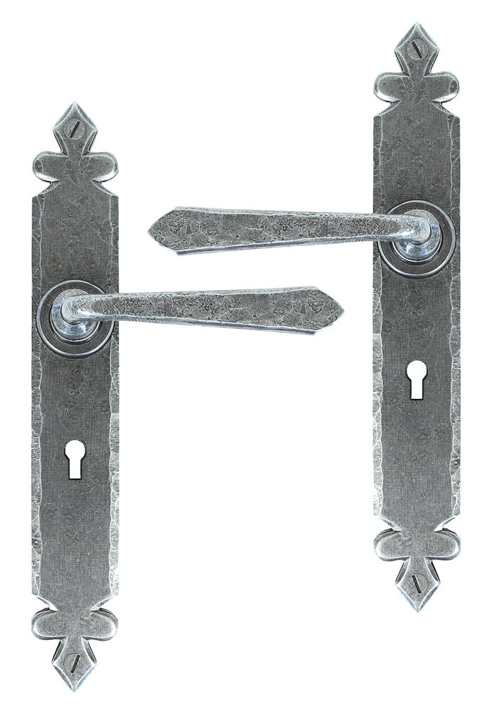 Pewter Cromwell Sprung Lever Lock Set image