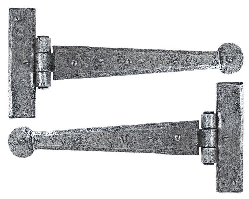 "Pewter 9"" T Hinge (pair)"