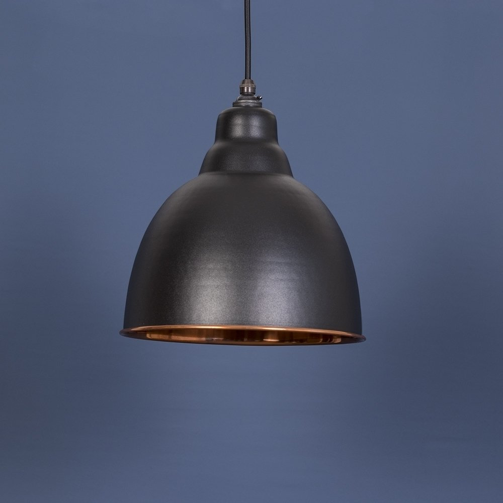 The Brindley Pendant - Matt Black/Copper