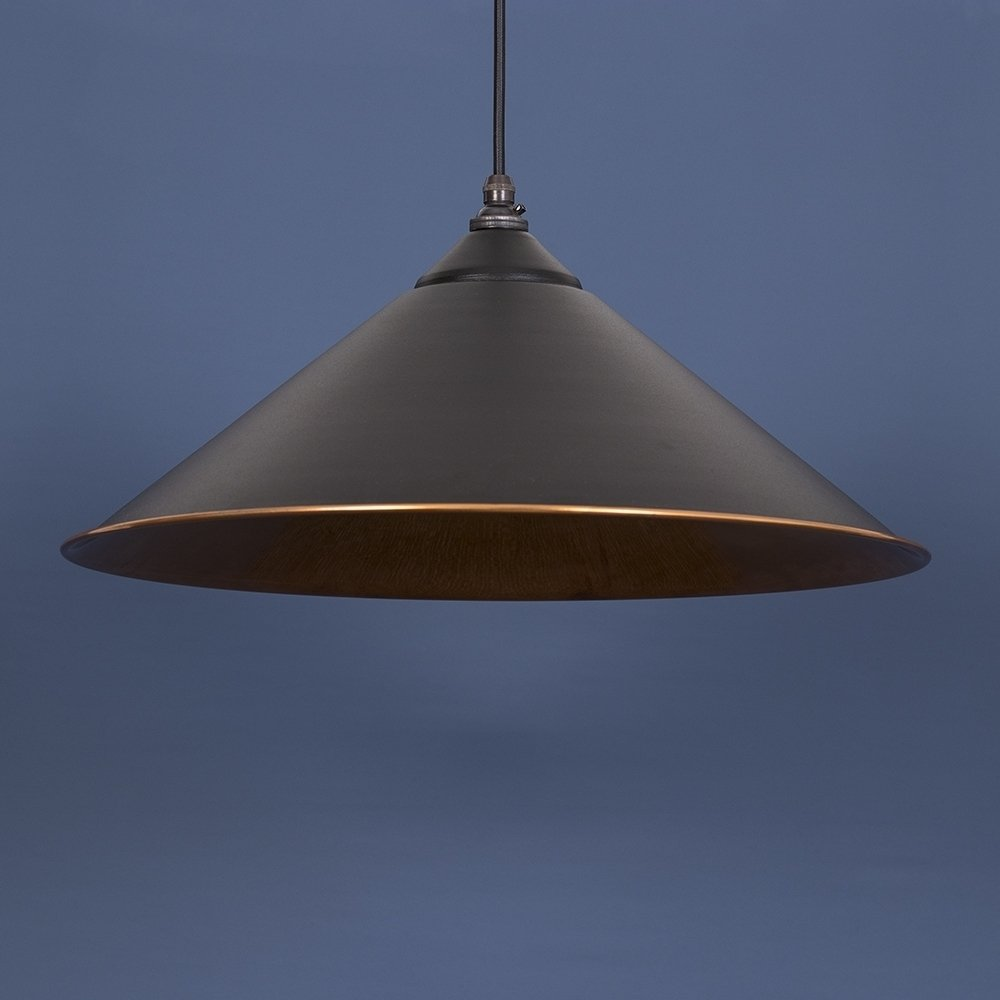 The Yardley Pendant - Matt Black/Copper