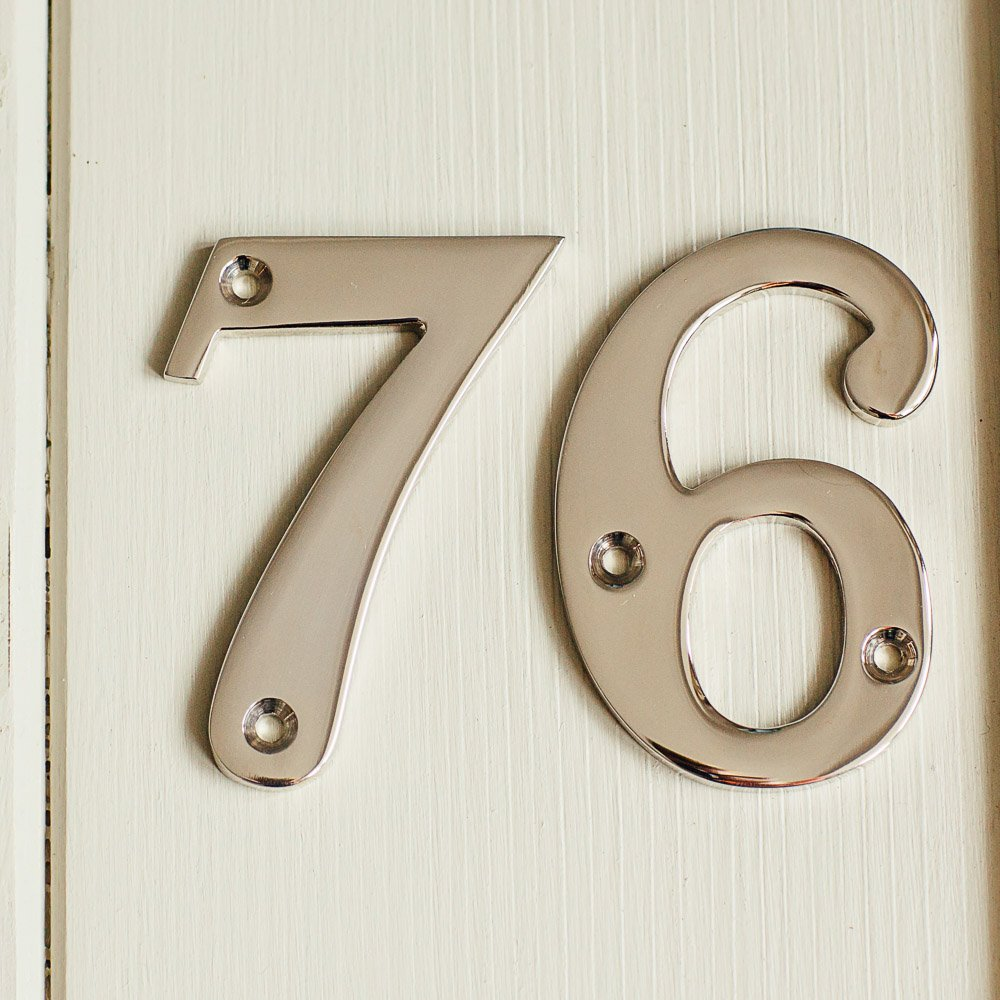 House Number '6' - Nickel