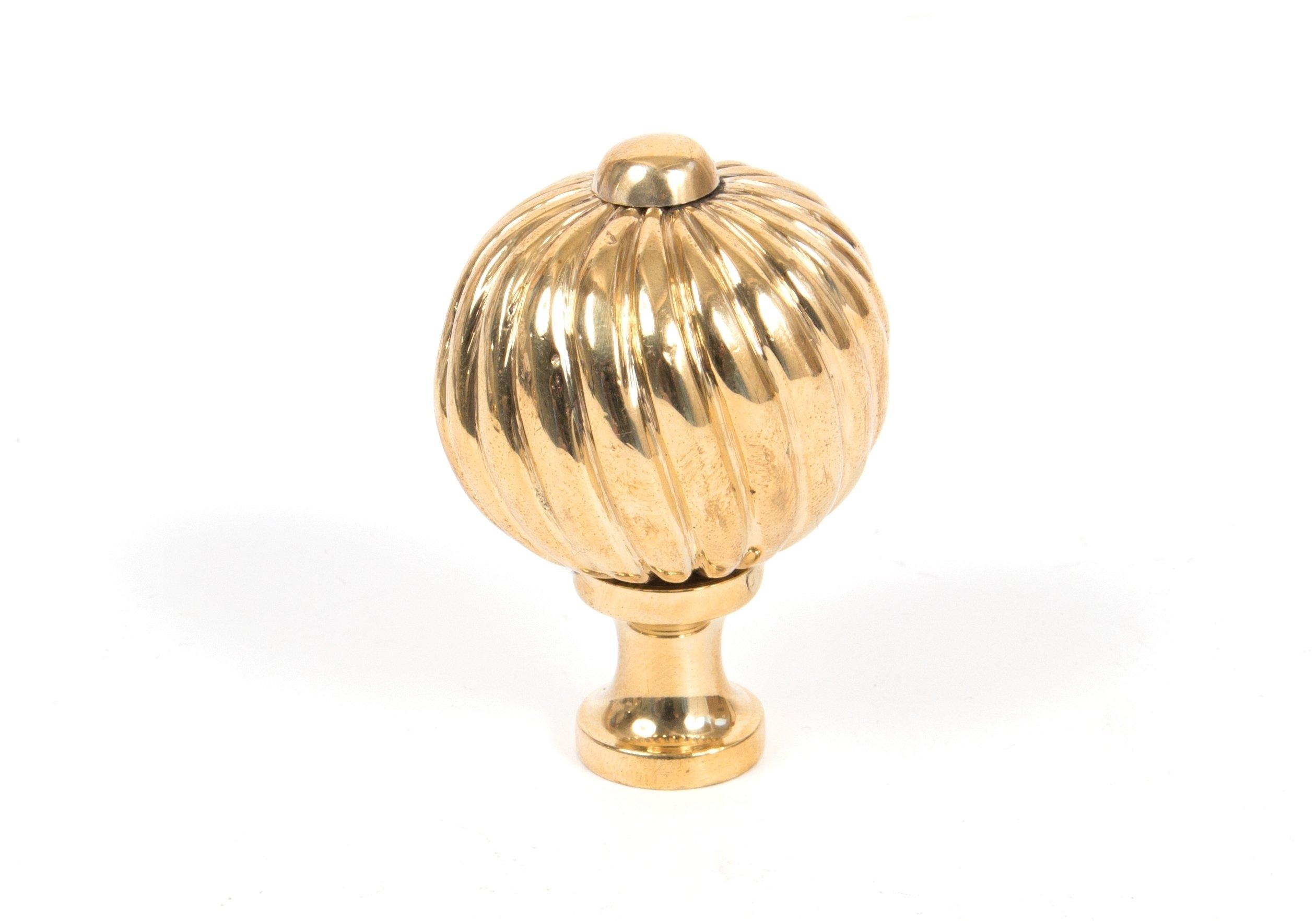 Polished Brass Spiral Cabinet Knob - Medium