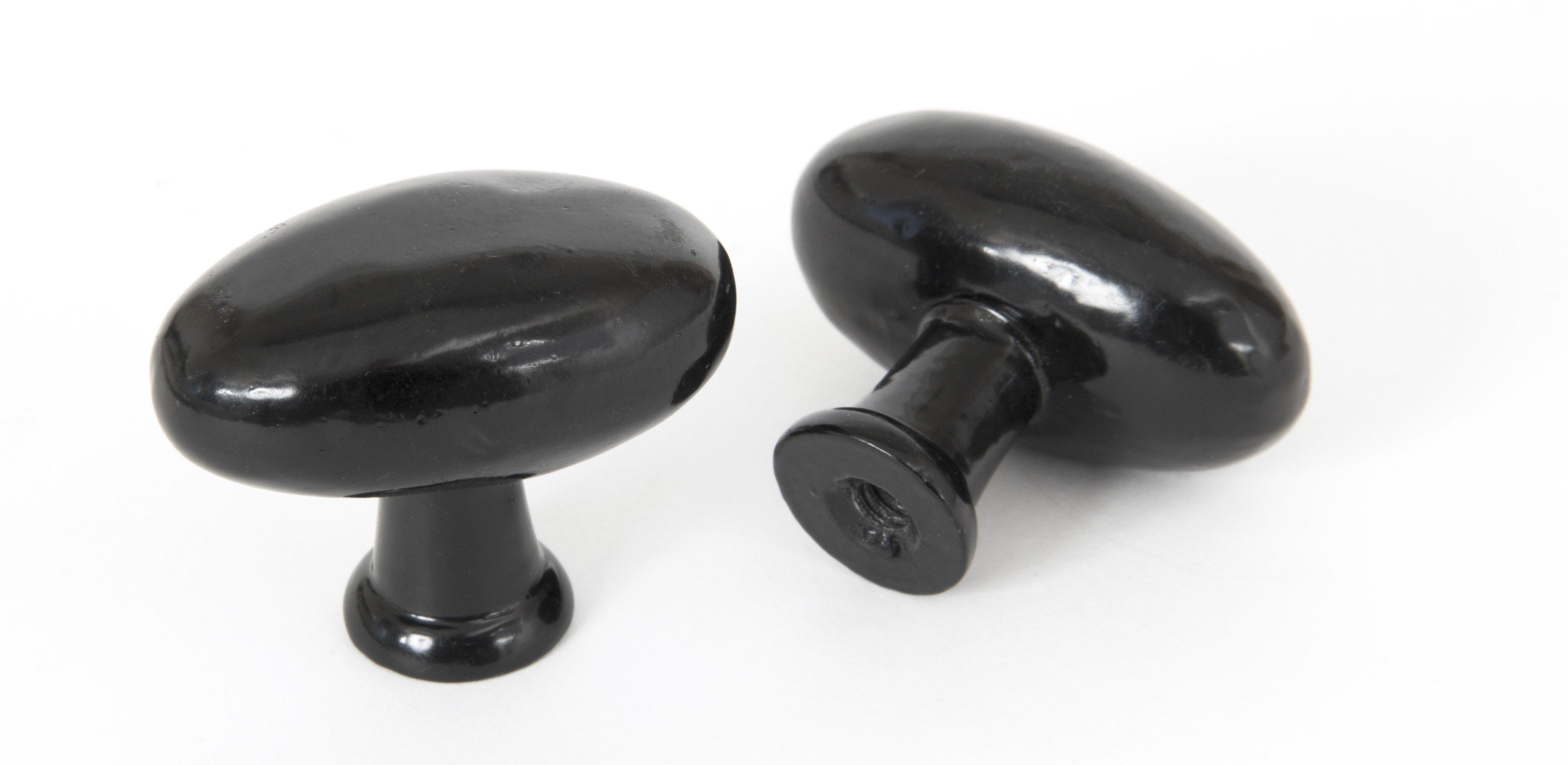 Oval Cabinet Knob - Black