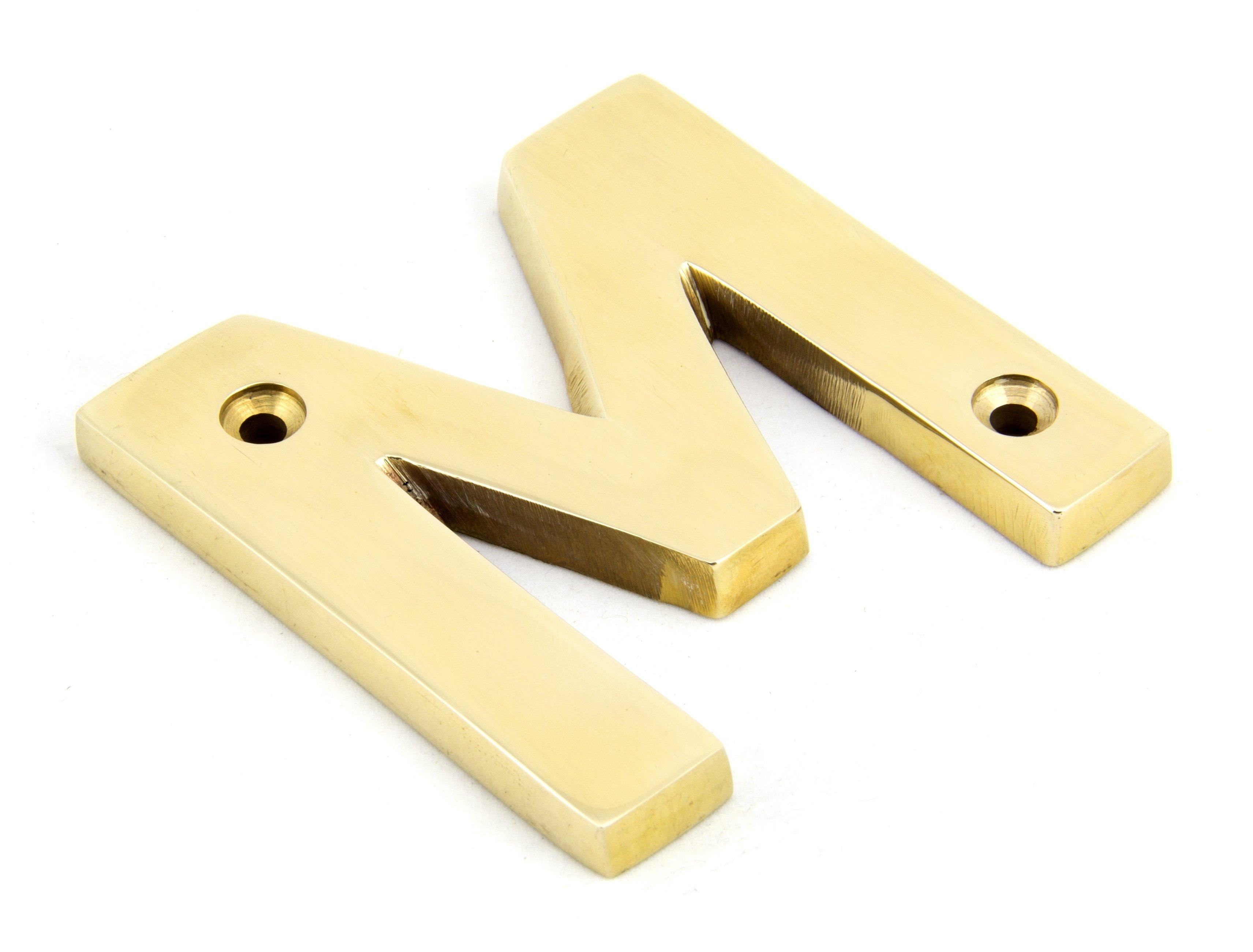 Polished Brass Letter M