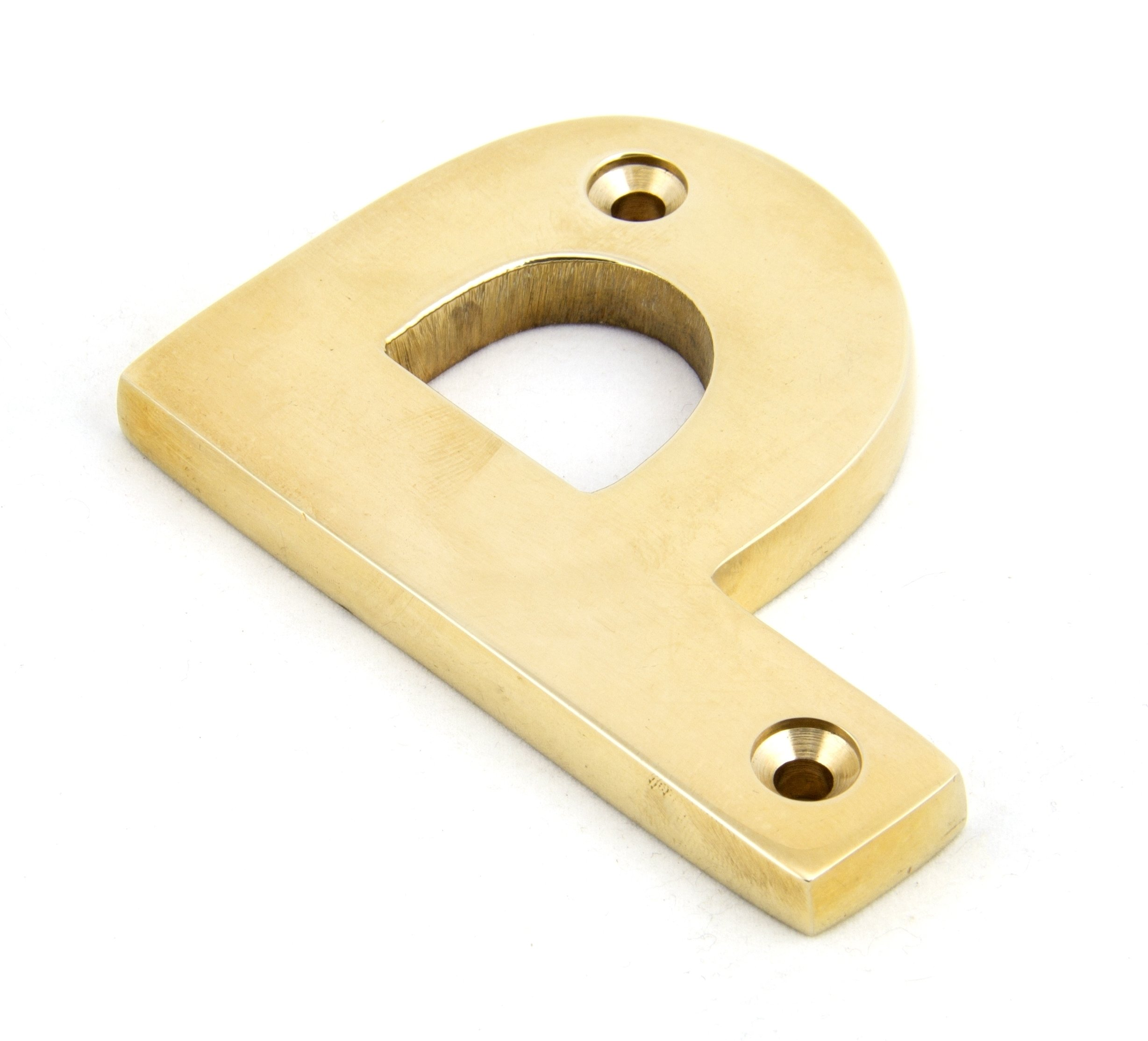Polished Brass Letter P