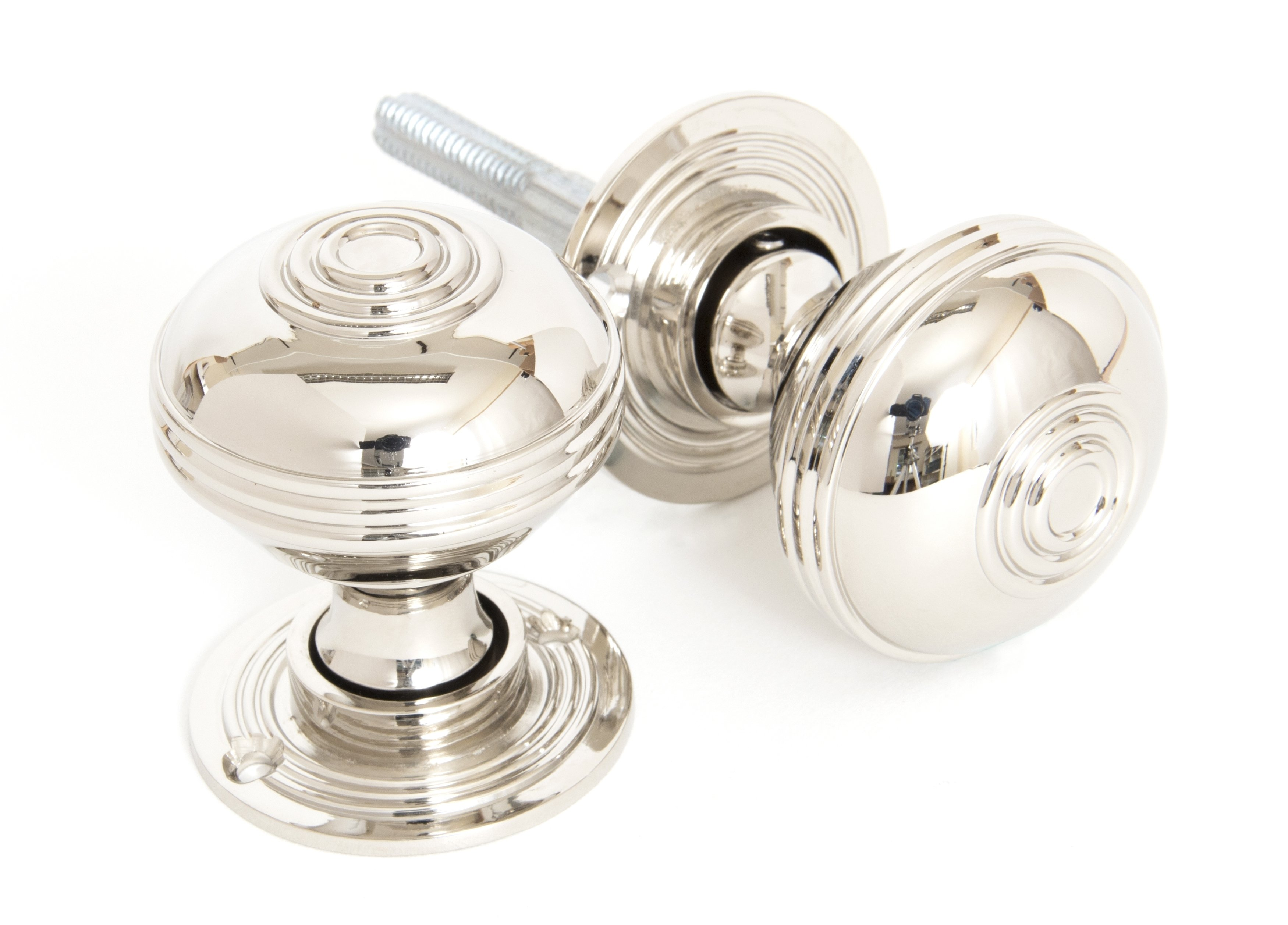 Polished Nickel Prestbury Mortice/Rim Knob Set - 50mm