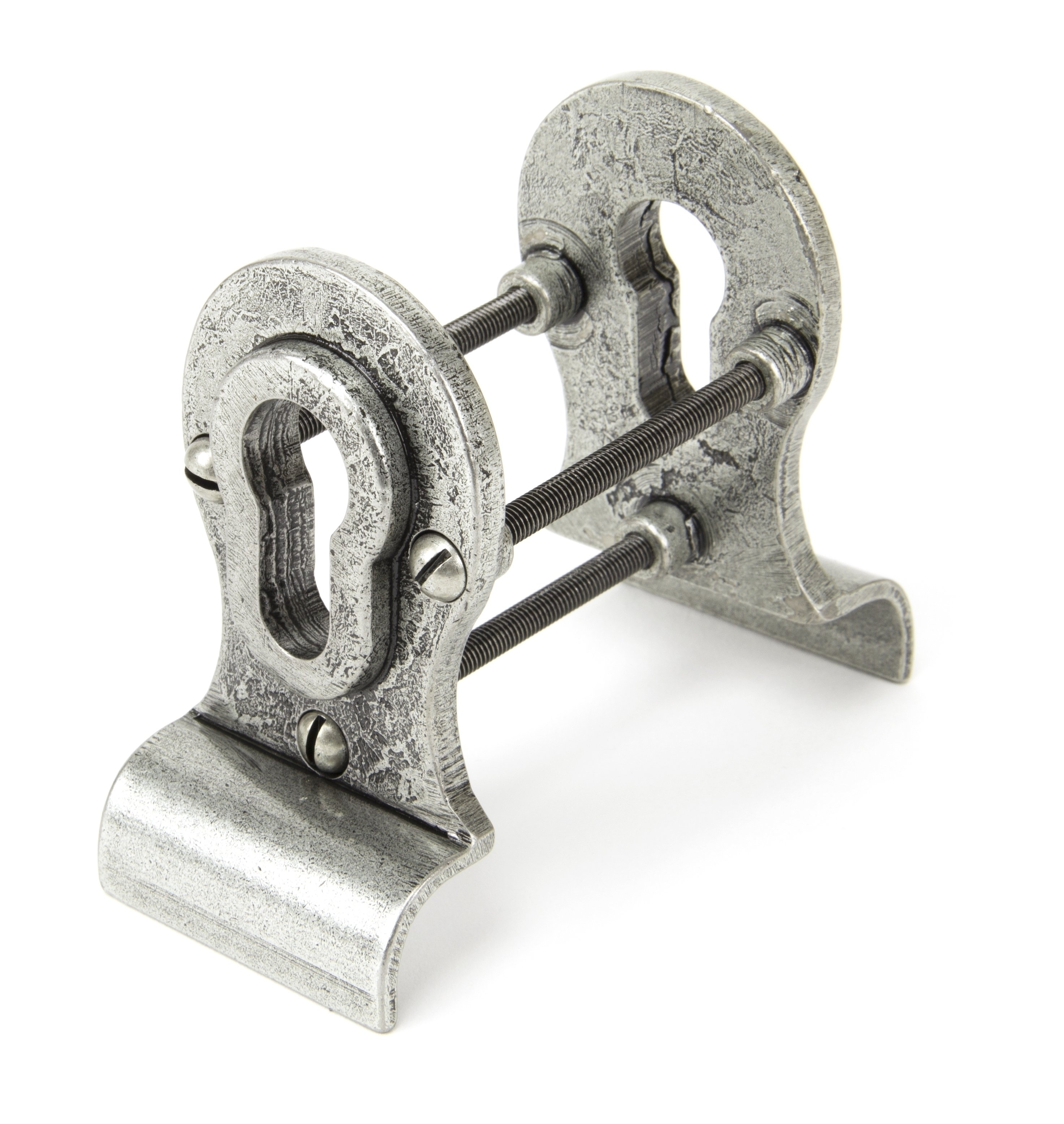 Pewter Euro Door Pull - Back-to-back Fixing image