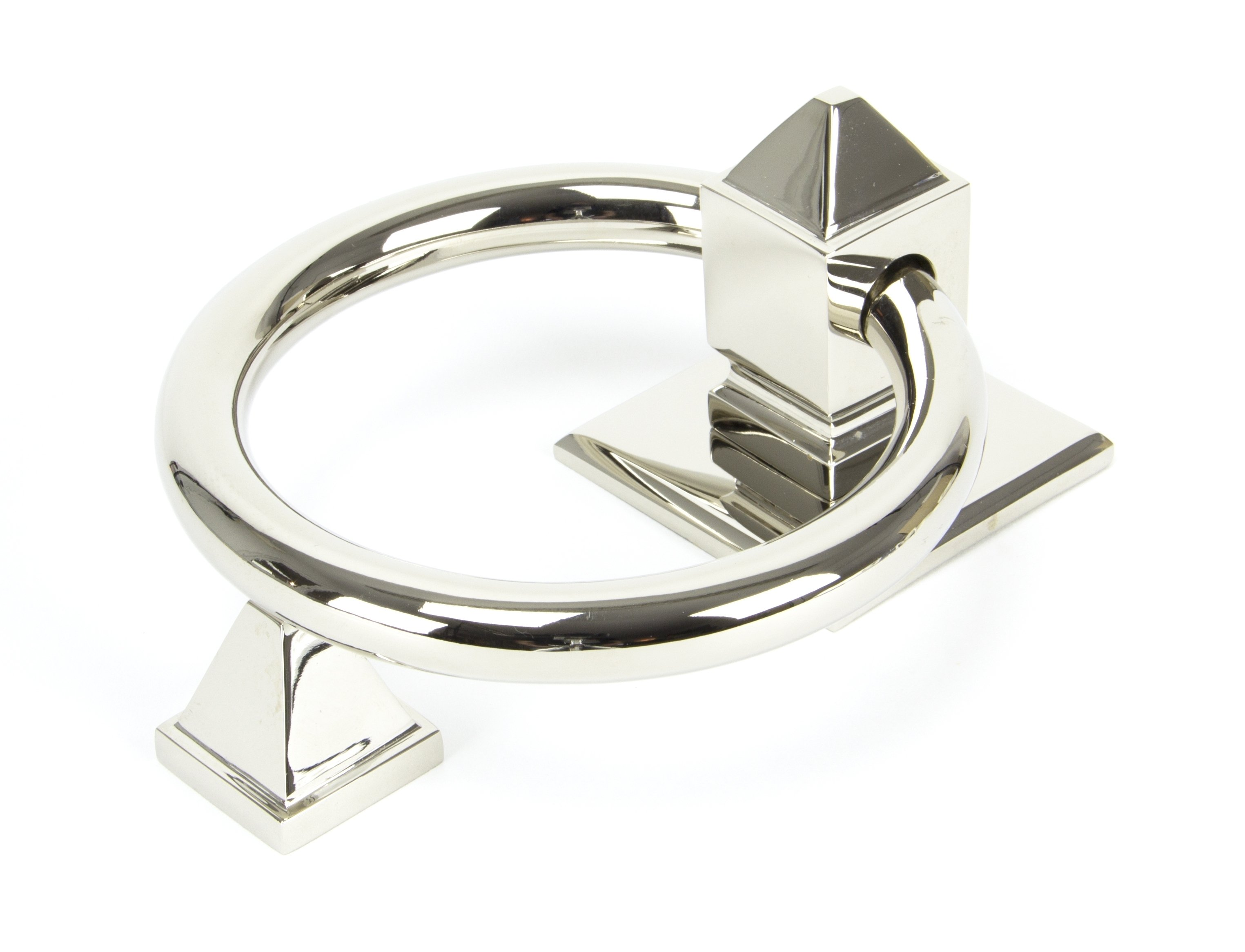 Polished Nickel Ring Door Knocker