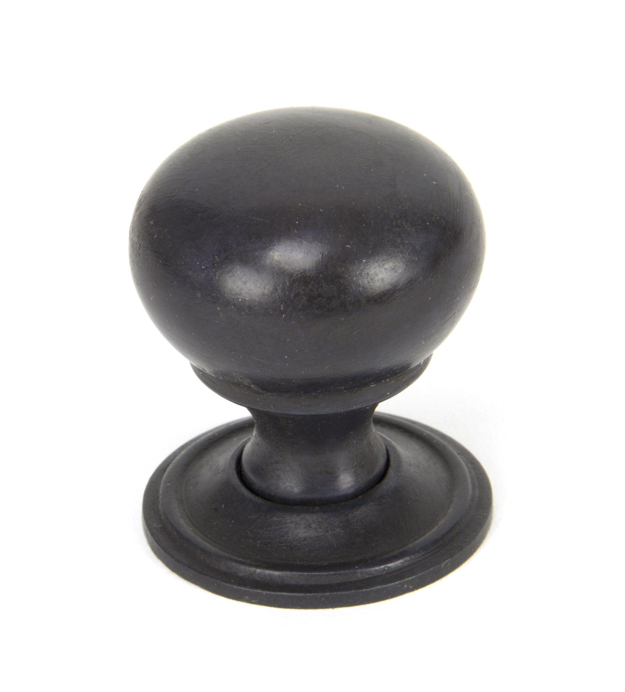 Aged Bronze Mushroom Cabinet Knob - Small image