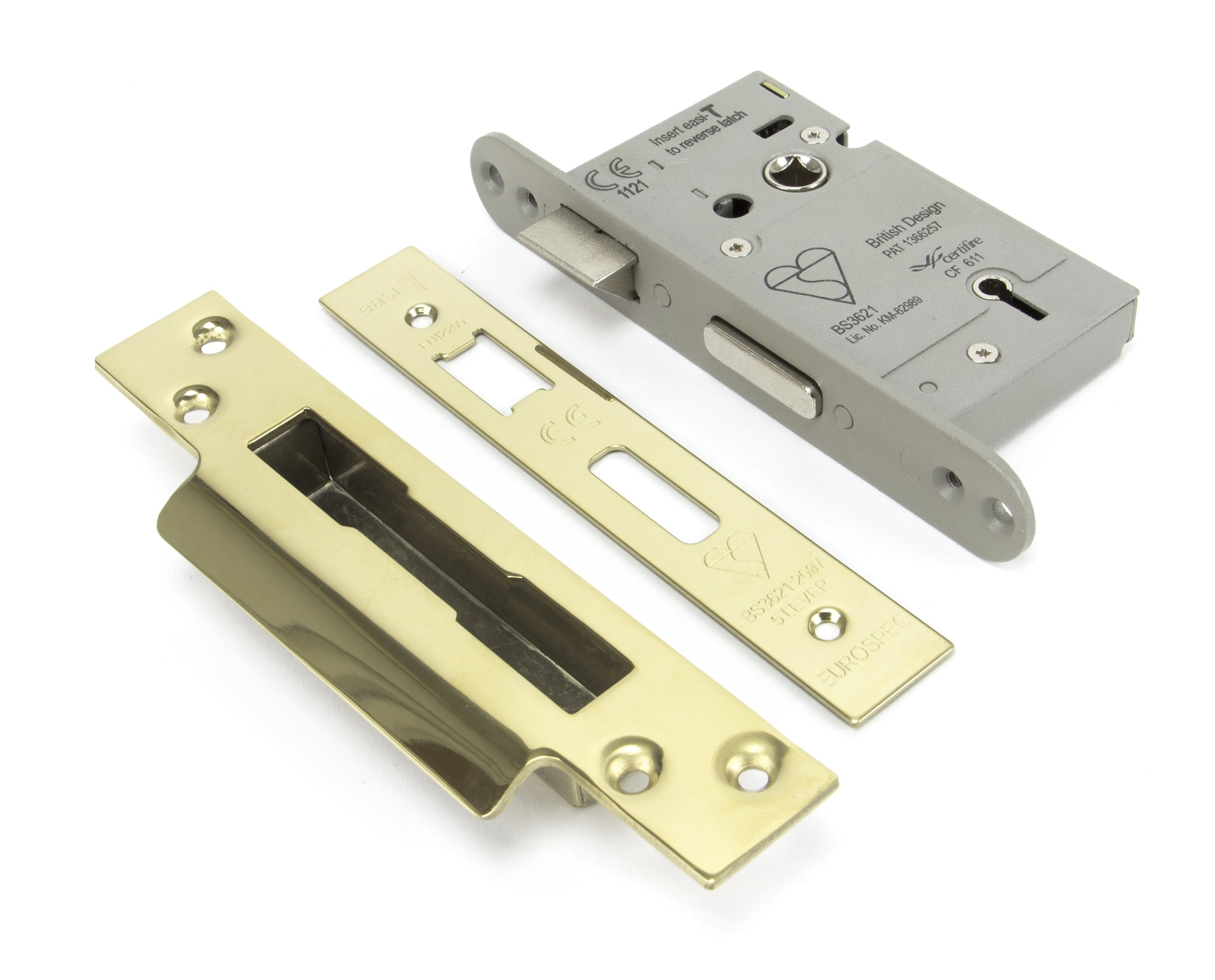 "PVD Brass 2.5"" Heavy Duty Sashlock"