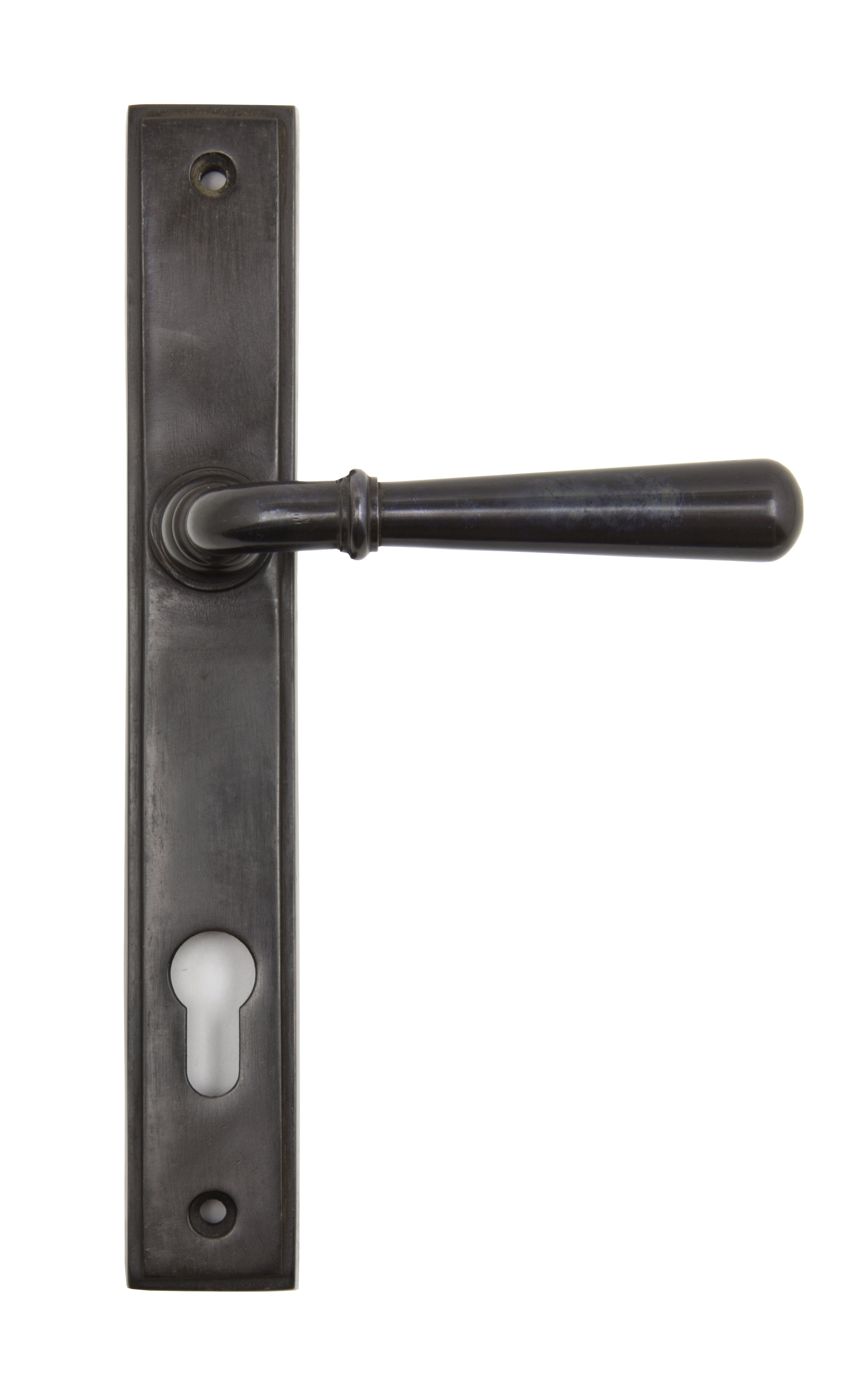 Aged Bronze Newbury Slimline Lever Espag. Lock Set