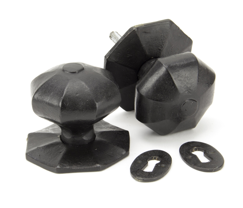 External Beeswax Octagonal Mortice/Rim Knob Set - Large