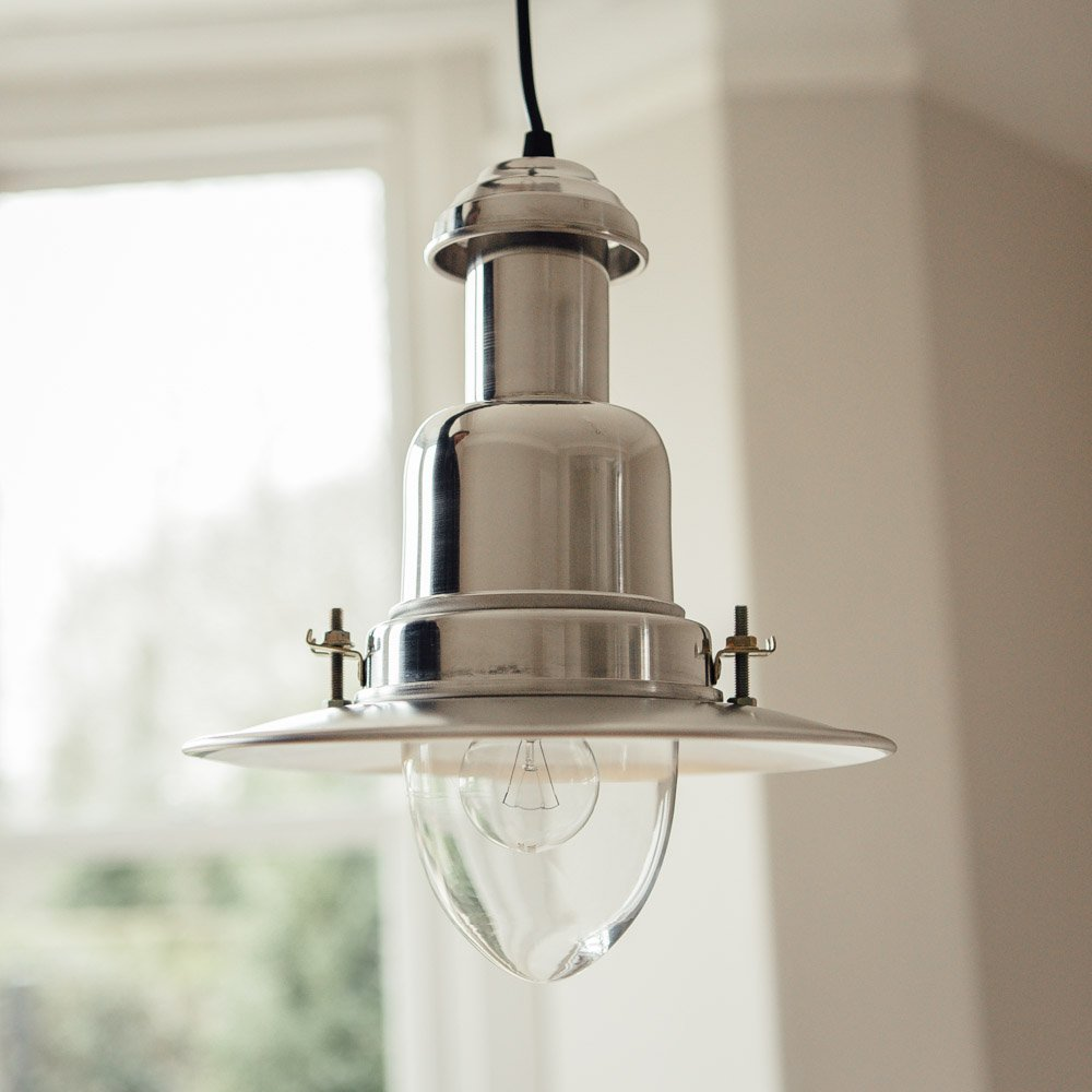 Fishing Pendant Light - Aluminium