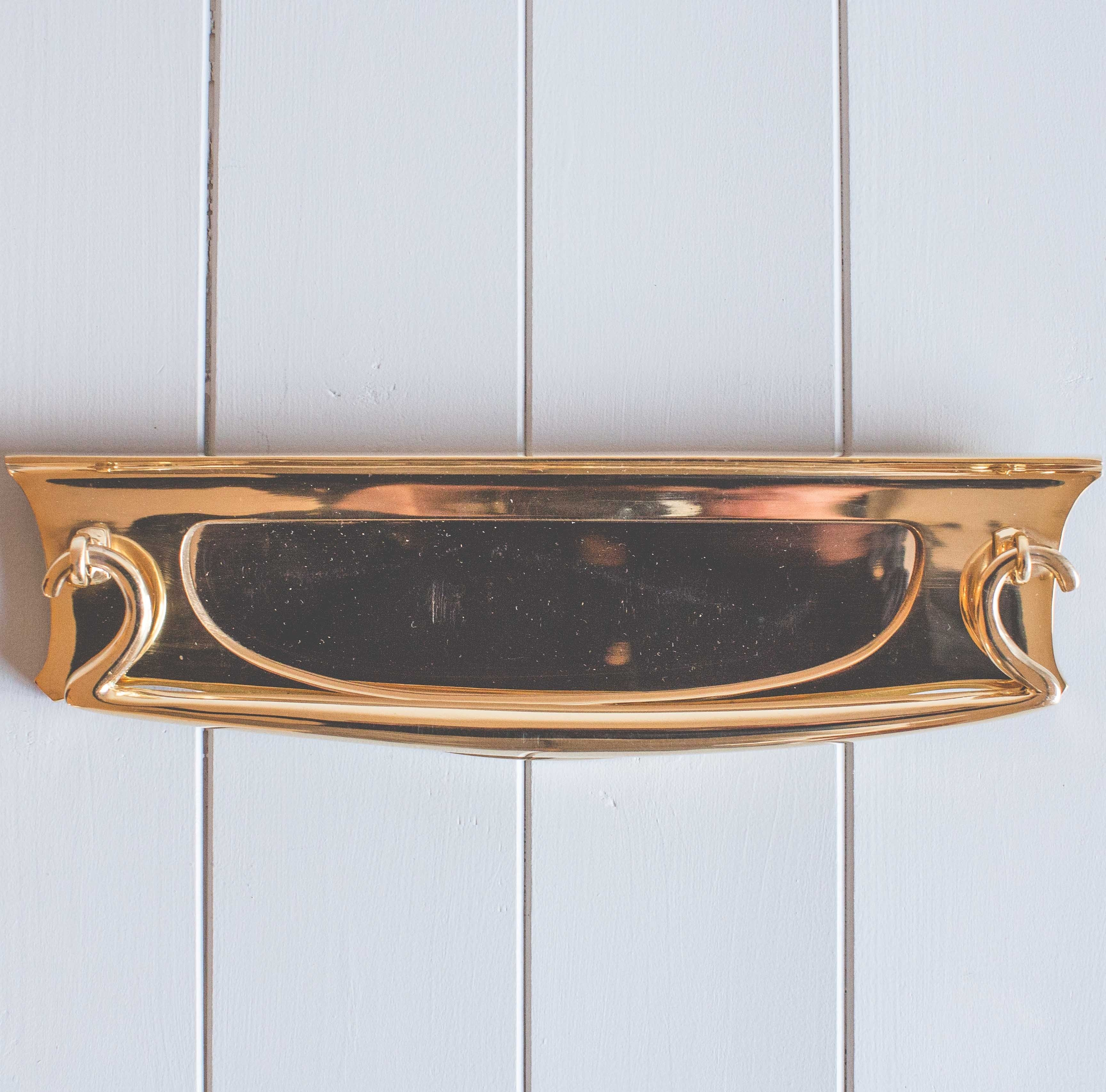 Art Deco Letterplate With Clapper- Polished Brass