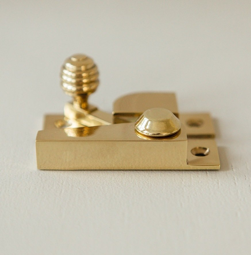 Beehive Sash Window Fastener - Brass