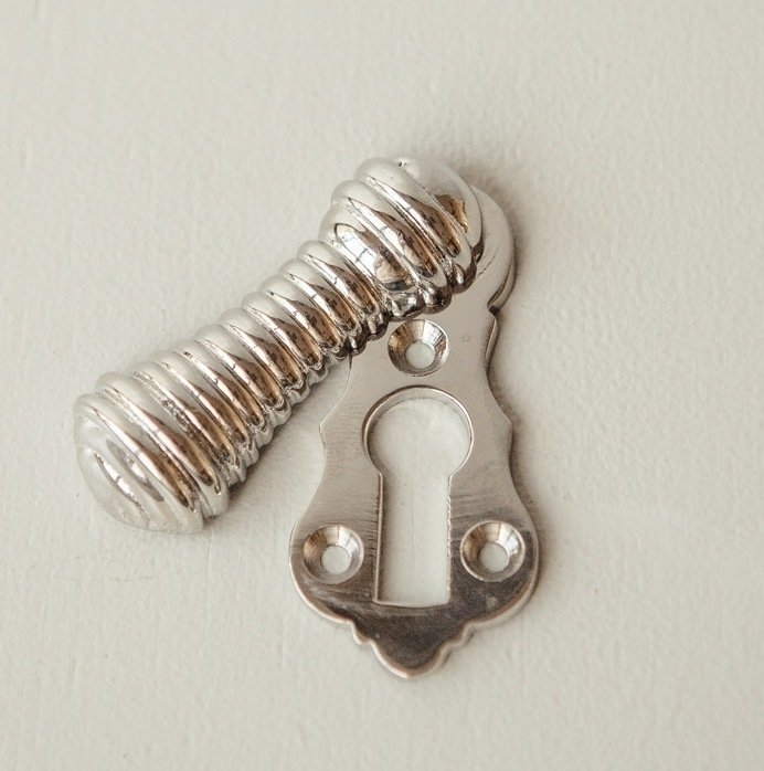 Beehive Lady Escutcheon - Polished Nickel