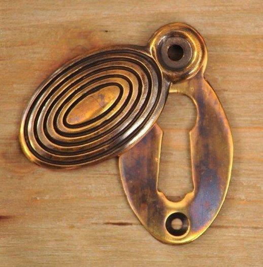 Beehive Escutcheon - Aged Brass