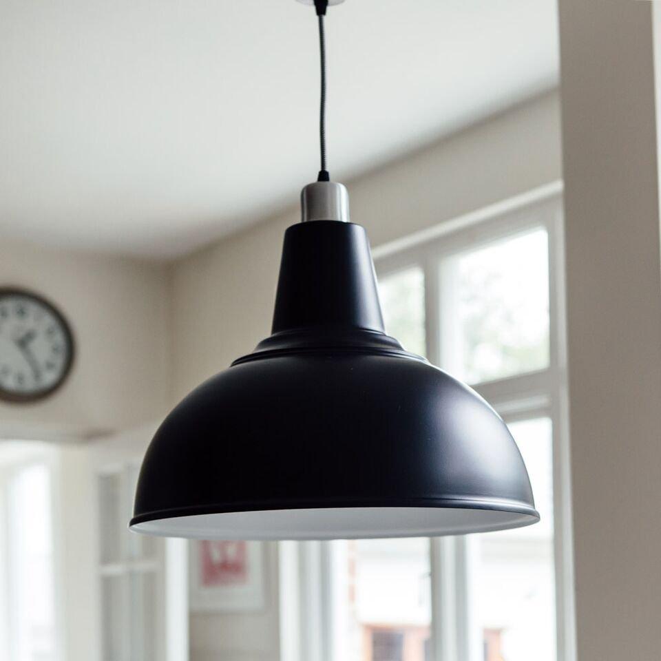 Large Kitchen Pendant Light - Black save 60%