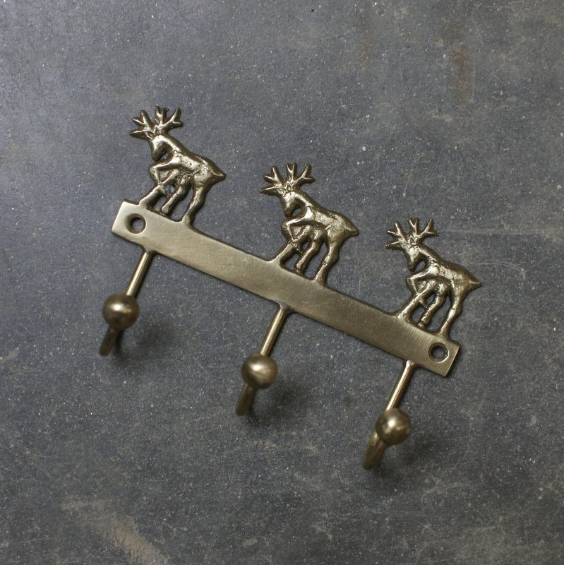 Brass Hooks - Stag