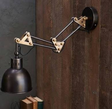 Chaima Industrial Extendable Wall Light - Aged Bronze