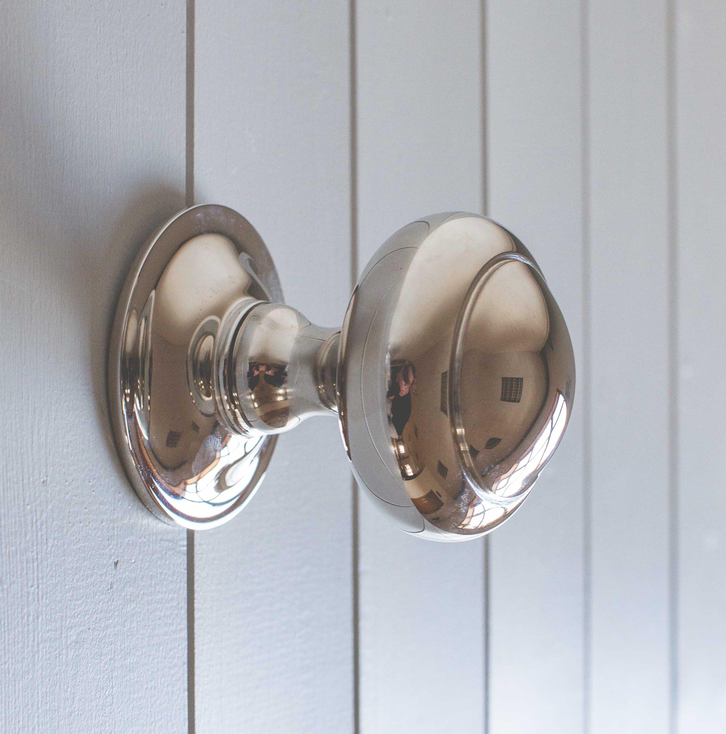 Circular Door Pull - Polished Nickel