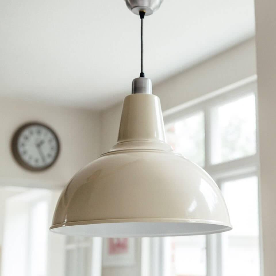 Large Kitchen Pendant Light - Cream save 25%