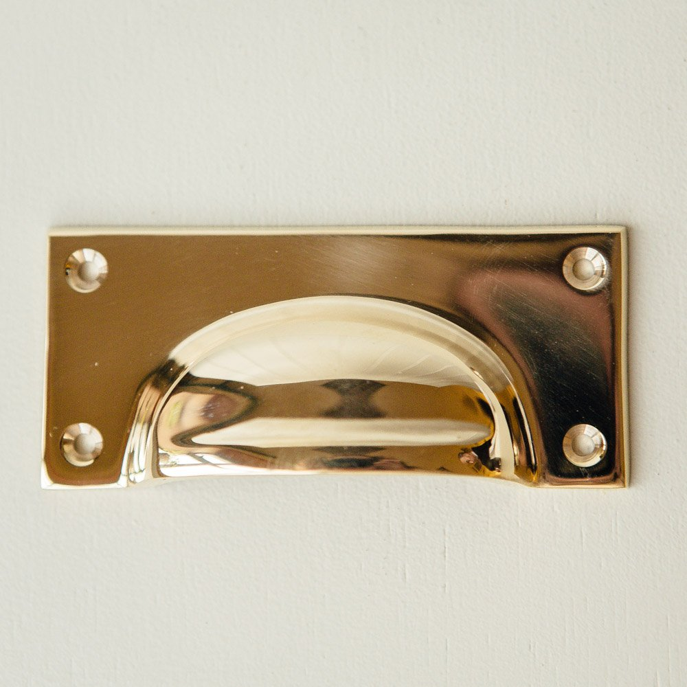 Cast Drawer Pull (Large)- Brass