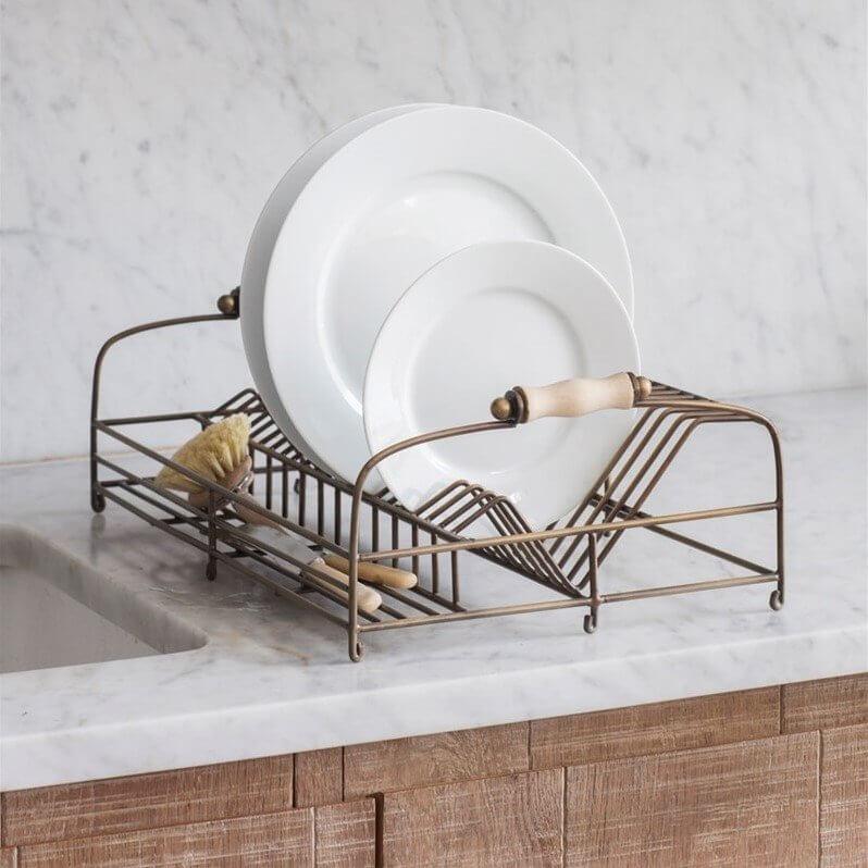 Dish Rack - Antique Brass Finish