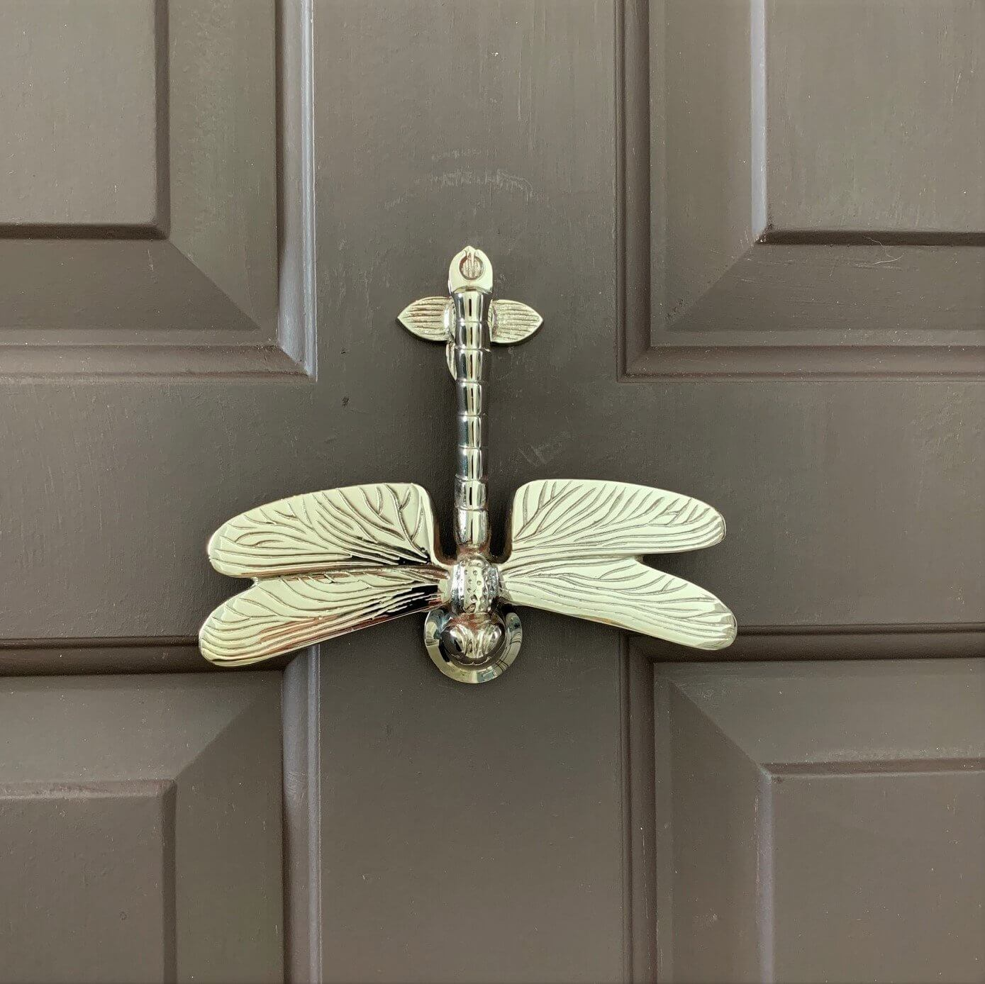 Dragonfly Door Knocker - Nickel