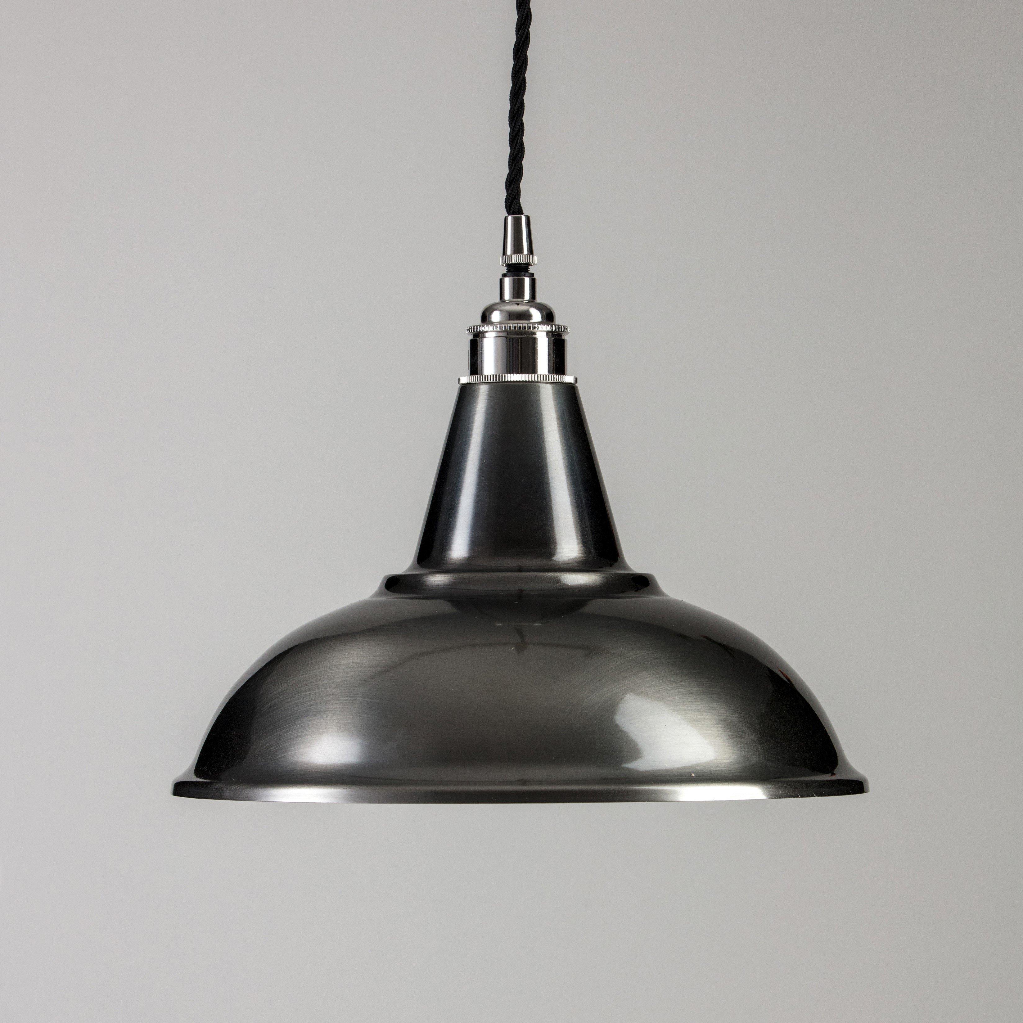 Factory Pendant Light - Antique Silver