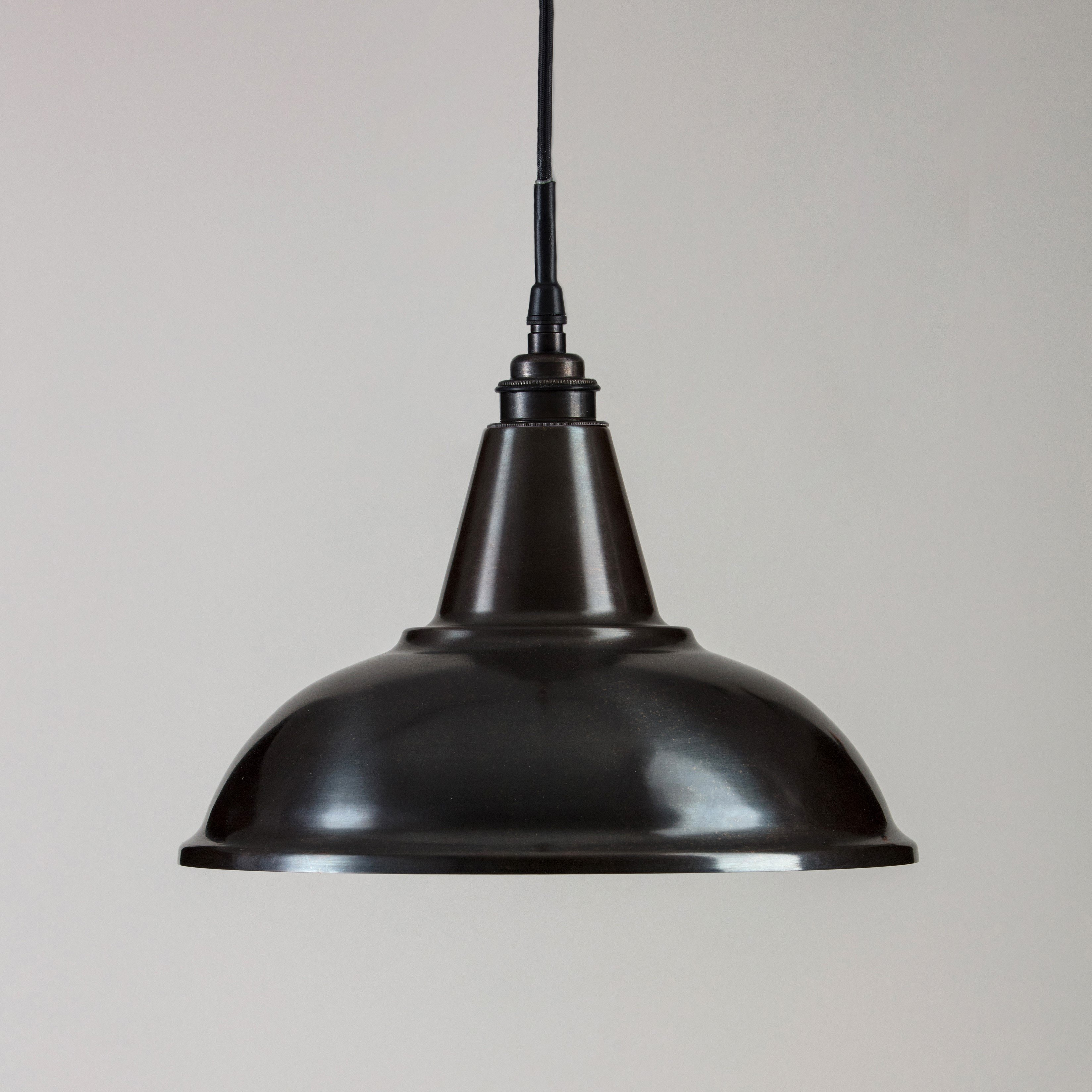 Factory Pendant Light - Raw Steel & Copper IP44