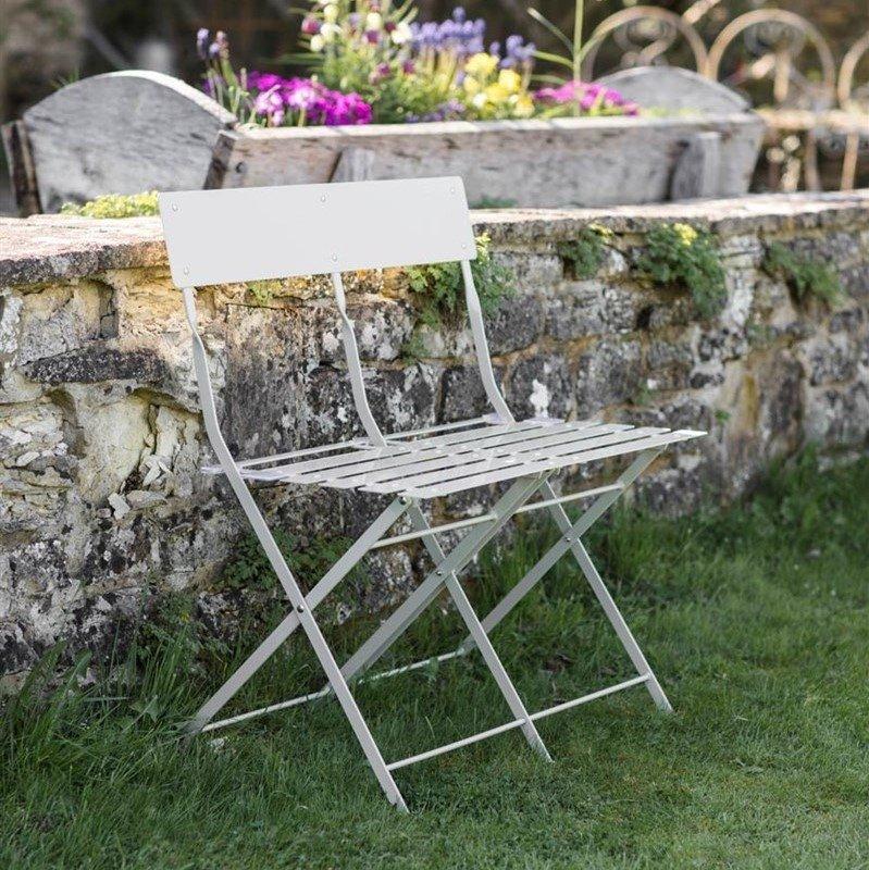 Folding Bistro Bench - Chalk