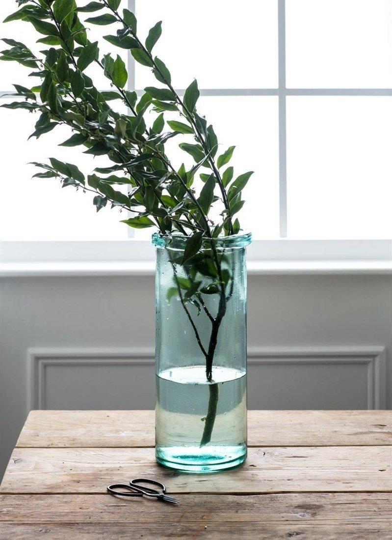 Glass Column Vase - Tall