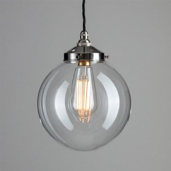 Globe Pendant Light - Polished Nickel