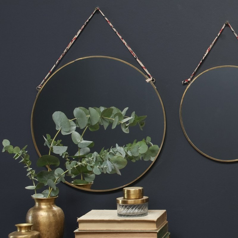 Round Mirror - Brass save 30%