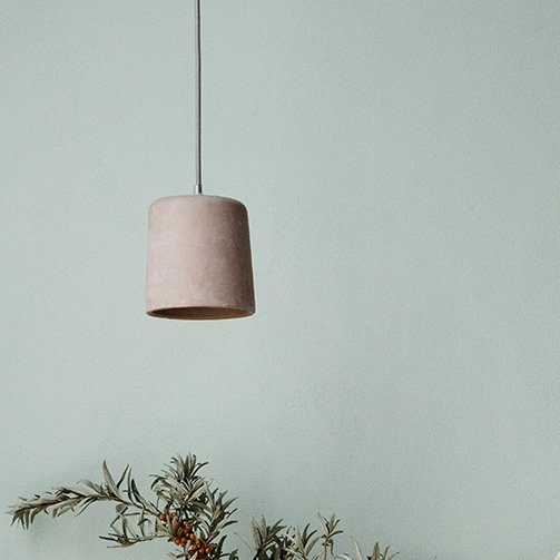 Concrete Pendant Light - Blush SAVE 30%