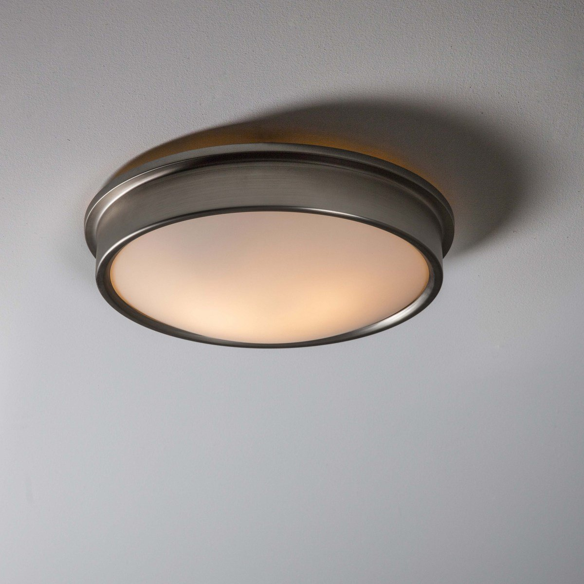 Satin Nickel Bathroom Ceiling Light SAVE 15%