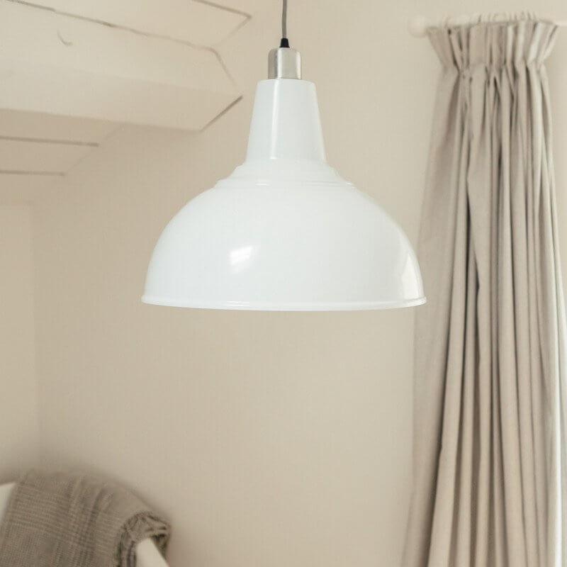 Large Kitchen Pendant Light - White