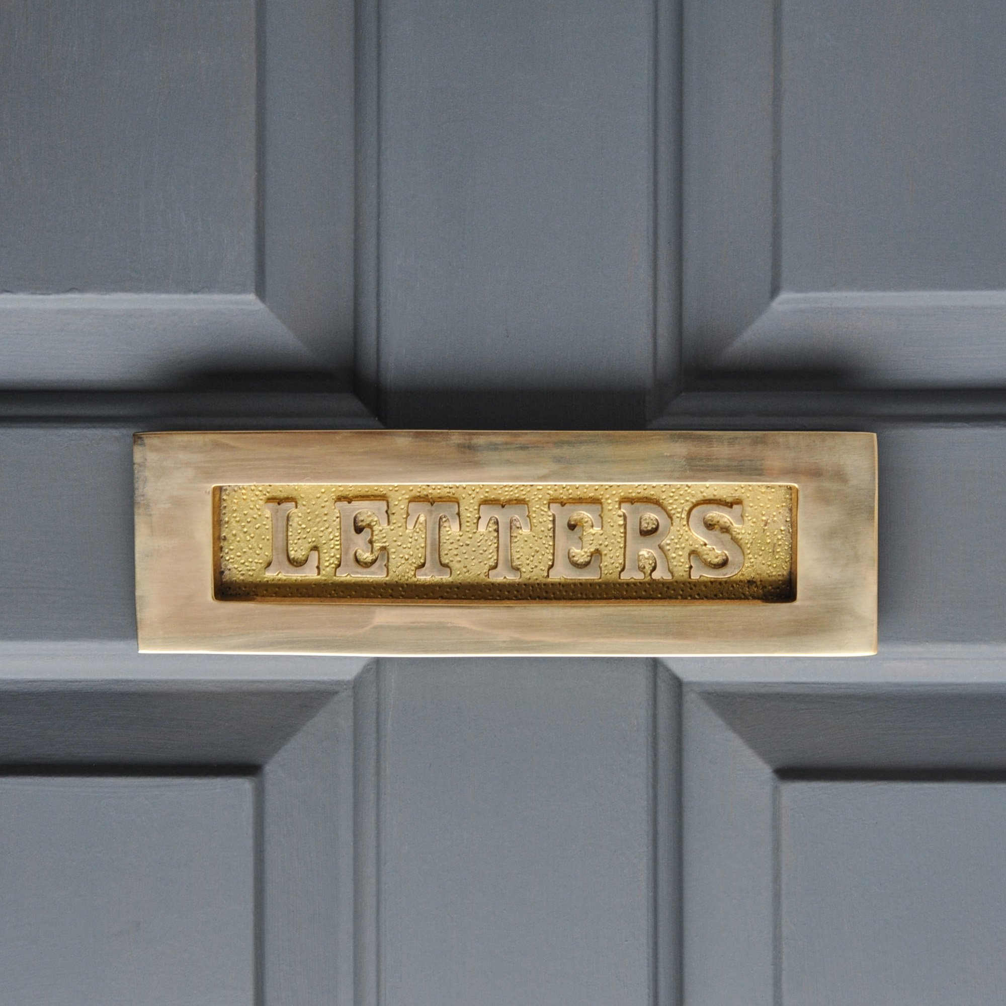 LETTERS Letterplate in Solid Brass